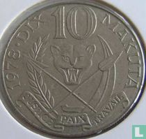 Zaïre 10 makuta 1978
