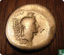 Romeinse Republiek, AR Denarius, 45 BC, L. Valerius Acisculus, Rome