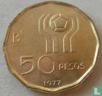 """Argentina 50 pesos 1977 """"1978 Football World Cup in Argentina"""""""