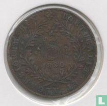 Açores 5 réis 1880