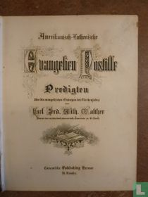 Amerikanisch-Lutherische Evangelien Postille.