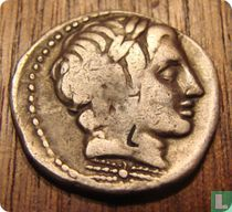 Romeinse republiek, AR Denarius, 86 BC, Gargilius, Ogulnius en Vergilius, Rome
