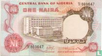 Nigeria 1 Naira ND (1973-78) P15a