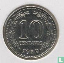 Argentinië 10 centavos 1959