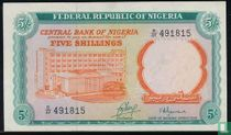 Nigeria 5 Shillings ND (1968)