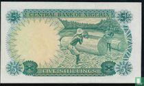 Nigeria 5 Shillings ND (1968)
