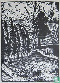 Frans Masereel - Landschap met koeien, 1926