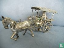 miniature, man with horse and carriage