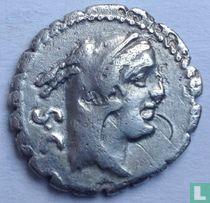 Romeinse Republiek - Serrate AR Denarius L. Procilius. 80 v.Chr.