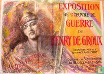 Exposition de l'oeuvre de guerre de Henry de Groux