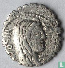 Romeinse republiek - AR Serrate Denarius A. Postumius A.f. Sp.n. Albinus. 81 v.Chr.