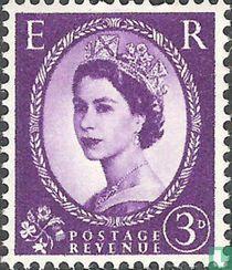Koningin Elizabeth II (Wilding) - Fosfor - Omgekeerd Watermerk