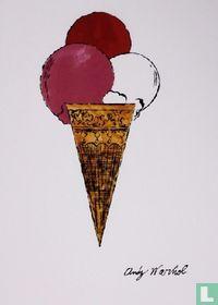 Ice Cream Dessert – Red-Pink-White