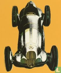 Mercedes W125 RACECAR, orange / argent
