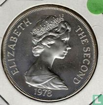 """Ascension 1 crown 1978 (zilver) """"25th Anniversary of the Coronation of Queen Elizabeth II"""""""