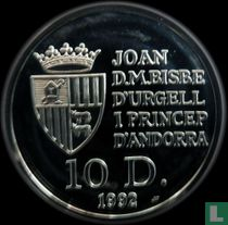 "Andorra 10 diners 1992 (PROOF) ""500th anniversary Discovery of the new world"""