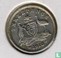 Australien 3 Pence 1910