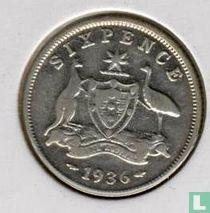 Australië 6 pence 1936