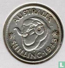 Australie 1 shilling 1943 S