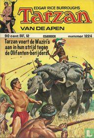 Tarzan voert de Waziri's aan in hun strijd tegen de olifanten-berijders!