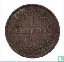 Baden 1 kreuzer 1864