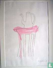 'Nuffige tafel met roze'