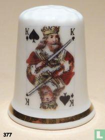 Kaartspel - Schoppen Koning