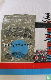 Compositie in Blauw en Rood. Blauw serie 10a.