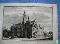's Gravenhage, Het Stadhuis van. na de Groenmarkt te zien 1742