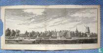 Gouda, De Stad. van over den Yssel te zien 1733