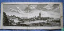 Arnhem, te zien van de hoogtens naar den Eltenerberg 1739