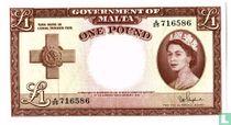 Malta 1 pound 1954
