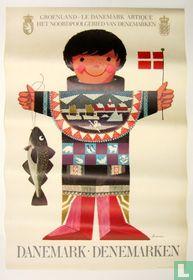 """Poster : Groenland - """"Le Danemark Artique"""" Het Noordpoolgebied van Denemarken"""