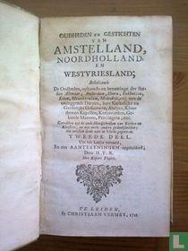 Oudheden en gestichten van Amstelland, Noordholland en Westvriesland