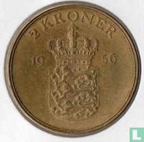 Denemarken 2 kroner 1956
