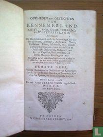 Oudheden en gestichten van Kennemerland