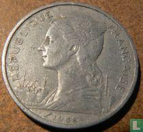 Français des Afars et des Issaland 5 francs 1968