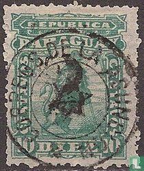 Leeuw heraldiek met handgestempelde opdruk