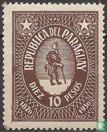 60e Verjaardag 1e postzegel