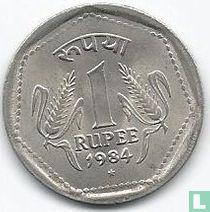 India 1 rupee 1984 (Hyderabad)