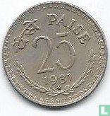 India 25 paise 1981 (Hyderabad)