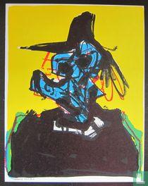 Antonio Saura - Lithograph, 1967