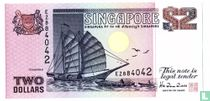Singapore 2 Dollars 1998