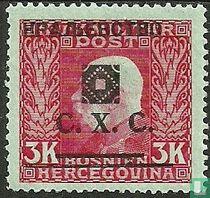 Franz Jozef I, met afdrukken