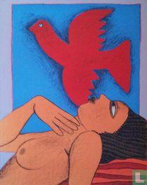 l'Oiseau Rouge et Femme