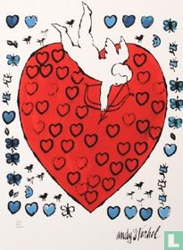 Amor with hearts