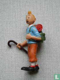 Tintin with walking stick (Varia 1)