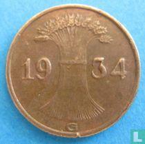 Duitse Rijk 1 reichspfennig 1934 (G)