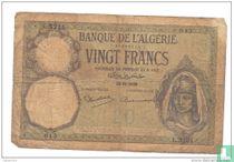 Algerije 20 Francs 1938
