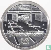 "België 10 euro 2002 (PROOF) ""50 years Brussels north - south junction"""